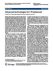 Advanced technologies for LTE advanced - Springer Link