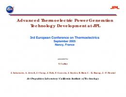 Advanced Thermoelectric Power Generation ...