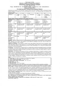 Advanced Training Institute Kolkata, Howrah - Employment News