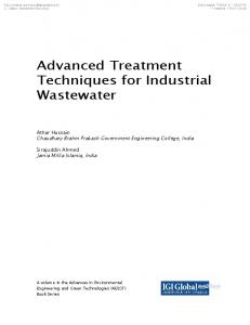 Advanced Treatment Techniques for Industrial