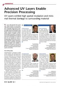 Advanced UV Lasers Enable Precision ... - Wiley Online Library