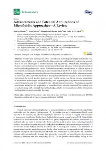 Advancements and Potential Applications of Microfluidic ... - MDPI