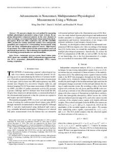 Advancements in Noncontact, Multiparameter Physiological ...