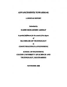 Advancements towards 4G.pdf - DSpace at CUSAT - Cochin ...
