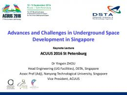 Advances and Challenges in Underground Space ...