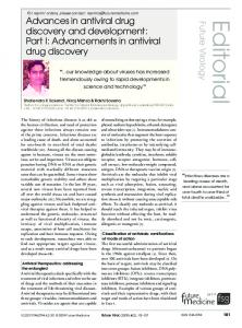 Advances in antiviral drug discovery and development: Part I ...