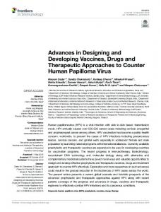 Advances in Designing and Developing Vaccines