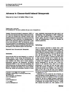 Advances in Glucocorticoid-Induced Osteoporosis - BioMedSearch