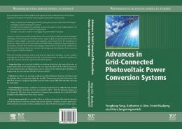 Advances in Grid-Connected Photovoltaic Power