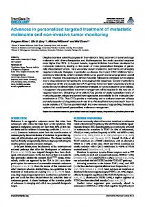Advances in personalized targeted treatment of ... - BioMedSearch