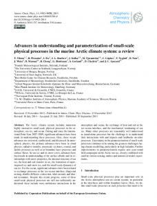 Advances in understanding and ... - Atmos. Chem. Phys