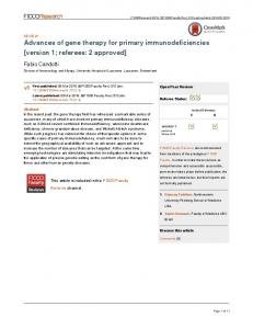 Advances of gene therapy for primary ... - Semantic Scholar