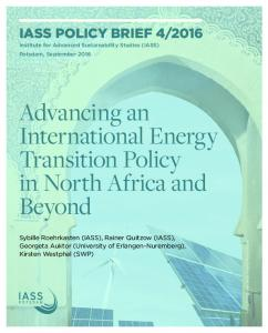Advancing an International Energy Transition Policy in ... - IASS Potsdam