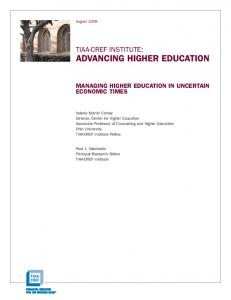 advancing higher education - CUPA-HR