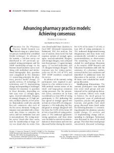 Advancing pharmacy practice models: Achieving
