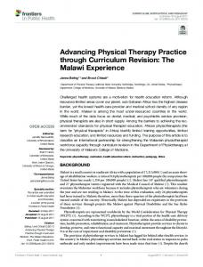 Advancing Physical Therapy Practice through ... - Semantic Scholar