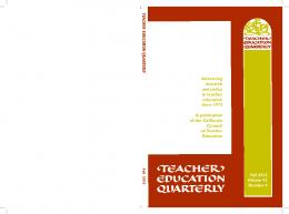 Advancing research and policy in teacher education ...
