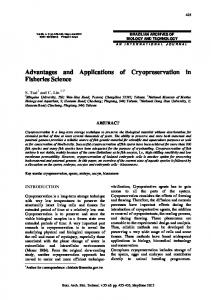 Advantages and Applications of Cryopreservation in ... - SciELO