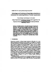 Advantages and limitations of knowledge networks as a ... - CiteSeerX