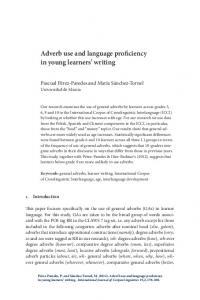 Adverb use and language proficiency in young learners' writing