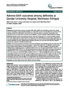 Adverse birth outcomes among deliveries at Gondar ... - BioMedSearch
