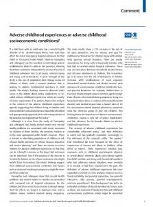Adverse childhood experiences or adverse childhood ... - The Lancet