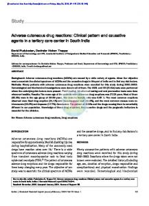 Adverse cutaneous drug reactions: Clinical pattern