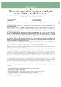 Adverse cutaneous reactions to epidermal growth factor ... - SciELO