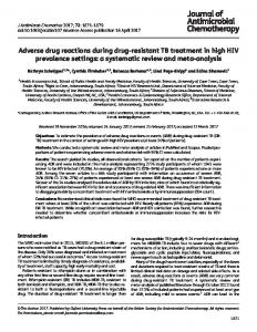 Adverse drug reactions during drug-resistant TB treatment in high HIV ...