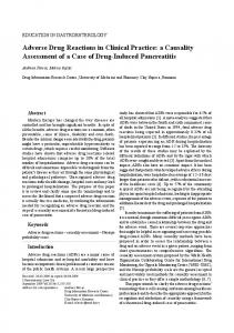 Adverse Drug Reactions in Clinical Practice: a