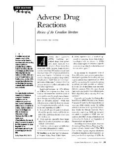 Adverse Drug Reactions - NCBI