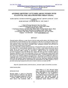 adverse obstetric outcomes among women with ... - Semantic Scholar