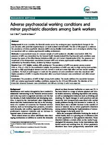 Adverse psychosocial working conditions and ... - Semantic Scholar