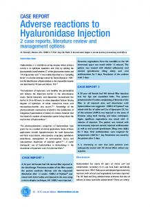 Adverse reactions to Hyaluronidase Injection