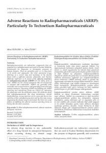 Adverse Reactions to Radiopharmaceuticals (ARRP ... - fabad
