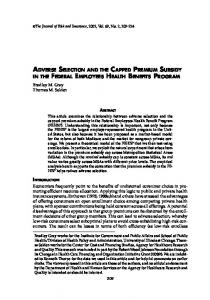 adverse selection and the capped premium ... - Wiley Online Library