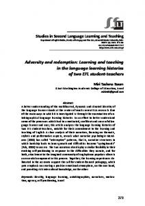 Adversity and redemption: Learning and teaching in the ... - Eric