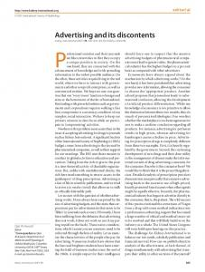 Advertising and its discontents - Kidney International