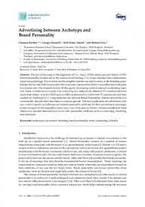 Advertising between Archetype and Brand Personality - MDPI