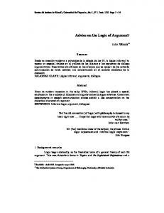Advice on the Logic of Argument - Dialnet