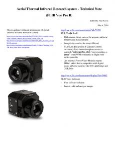 Aerial Thermal Infrared Research system - Technical Note (FLIR Vue ...