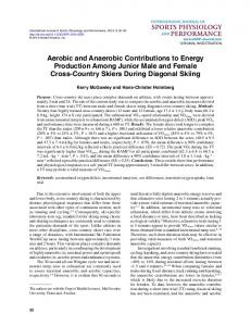 Aerobic and Anaerobic Contributions to Energy ... - Semantic Scholar
