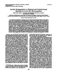 Aerobic Biodegradation of Biphenyl and Polychlorinated Biphenyls by ...