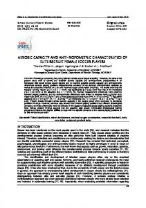 AEROBIC CAPACITY AND ANTHROPOMETRIC CHARACTERI ...