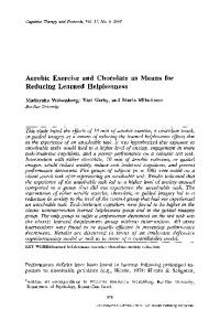 Aerobic exercise and chocolate as means for reducing ... - Springer Link