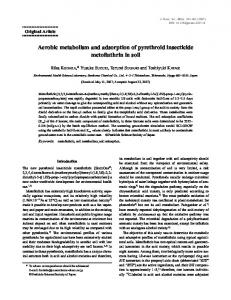 Aerobic metabolism and adsorption of pyrethroid insecticide