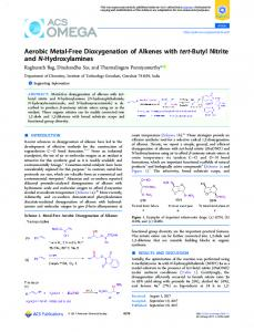 Aerobic Metal-Free Dioxygenation of Alkenes with tert-Butyl Nitrite and