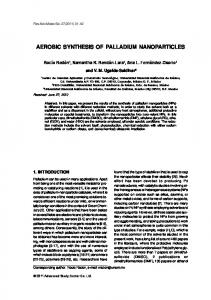 aerobic synthesis of palladium nanoparticles