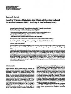 Aerobic Training Modulates the Effects of Exercise-Induced Oxidative ...