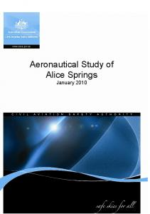 Aeronautical Study of Alice Springs - Civil Aviation Safety Authority